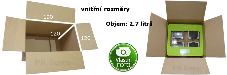 Klopová krabice 190x120x120 mm