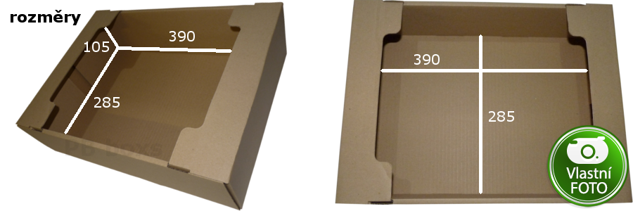 Parametry přepravky 390x285x105