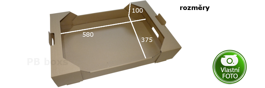 Stohovatelná přepravka 580x375x100 mm