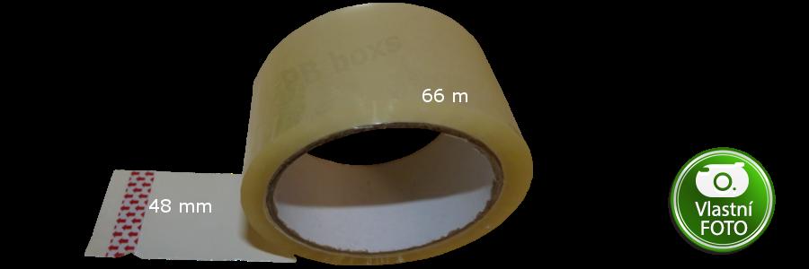Lepící páska čirá 48 mm x 66 m