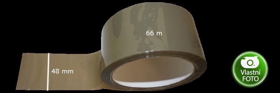 Balící hnědá páska 48mm x 66m