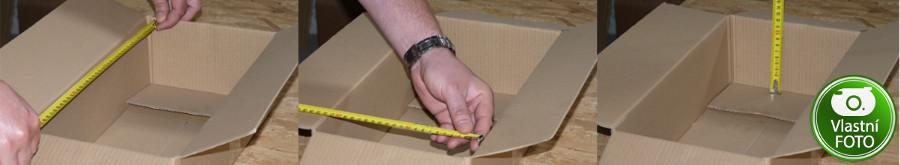 Vnitřní rozměry krabice
