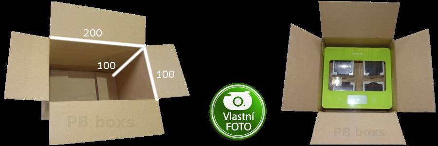 Parametry krabice 200x100x100 mm