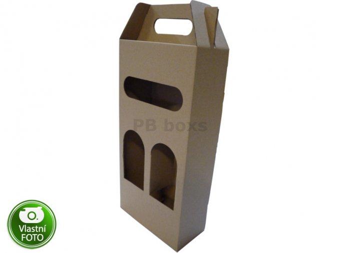 Krabice na víno 160x75x330 mm