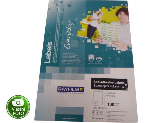Samolepící etikety Rayfilm 105*148 mm