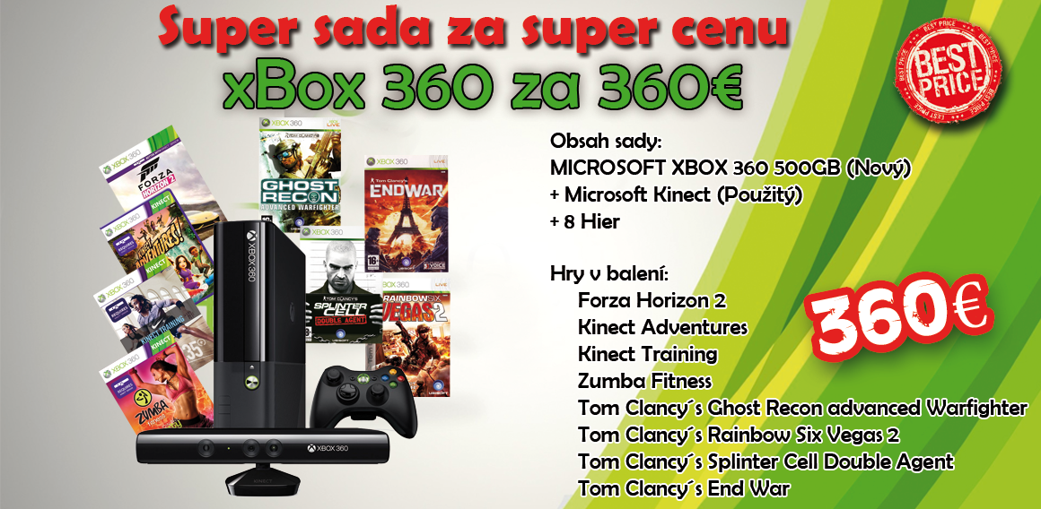 Xbox 360 kinect + hry