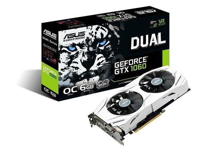 ASUS DUAL-GTX1060-O6G 6GB/192-bit, GDDR5, DVI, 2xHDMI, 2xDP