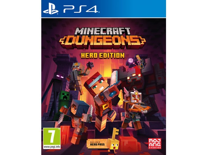 playstation4 minecraft dungeons hero edition