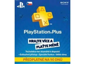 PlayStation Plus Card 90 Day - iba pre CZ PS Store