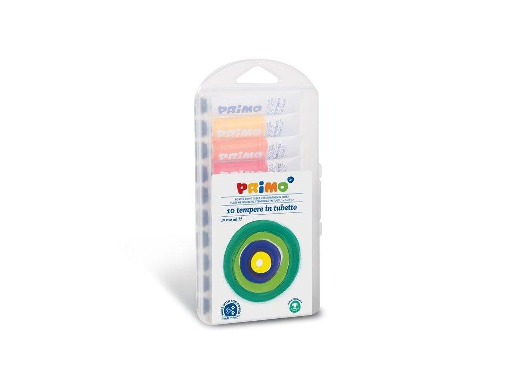 Temperové barvy PRIMO, sada 10 x 12ml, blistr