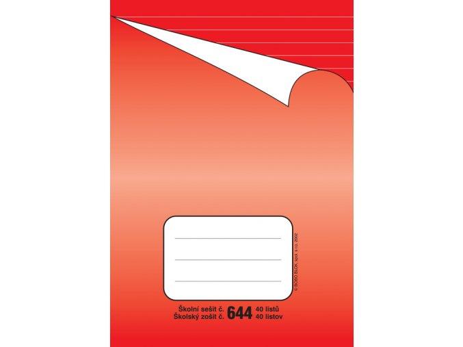 školní sešit 644 linkovaný