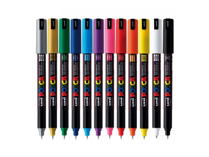 posca marker pc 1mr ultrafine colors pin 07mm