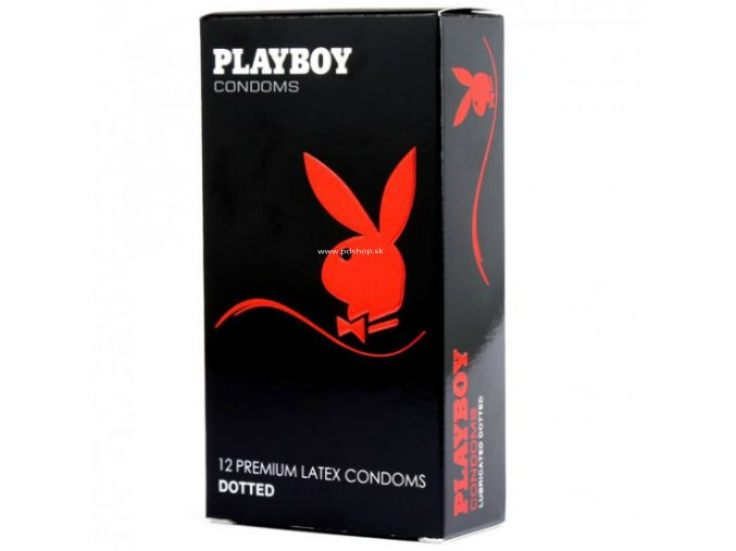 84632 1 playboy dotted condom 54mm 12 pack