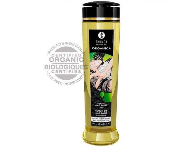 Shunga Organica Massage Oil Natural 240ml  + Darček
