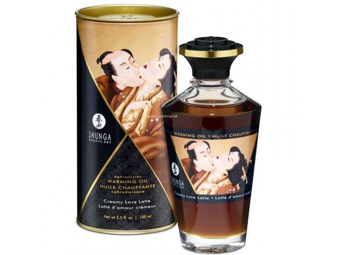 17453 shunga aphrodisiac warming oil creamy love latte 100 ml