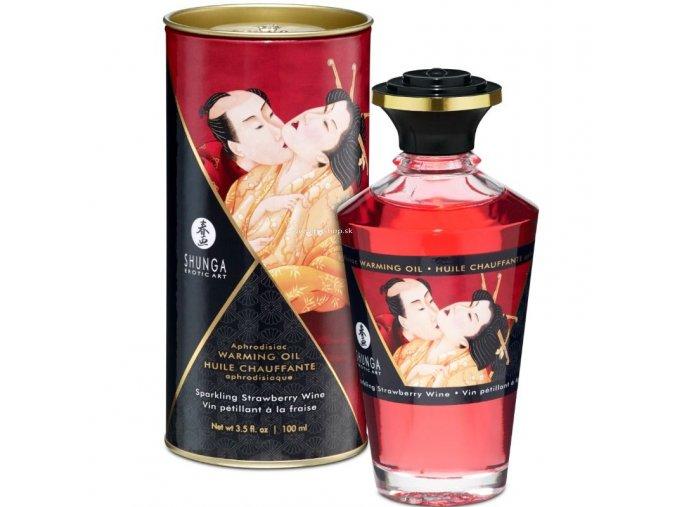 17444 shunga aphrodisiac warming oil sparkling strawberry wine 100 ml