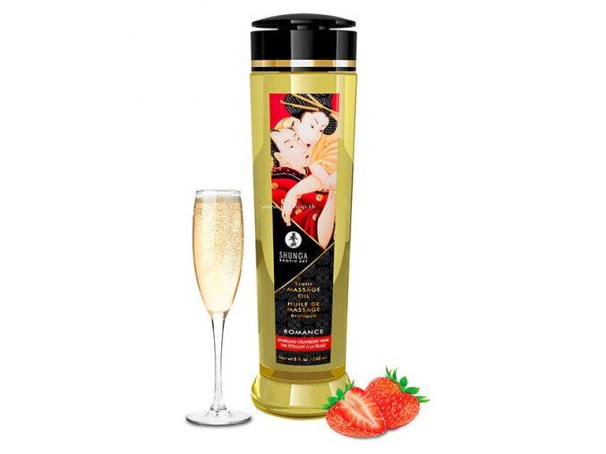 SHUNGA EROTIC MASSAGE OIL ROMANCE 240ML  - + + Darček kondóm alebo lubrikačný gél