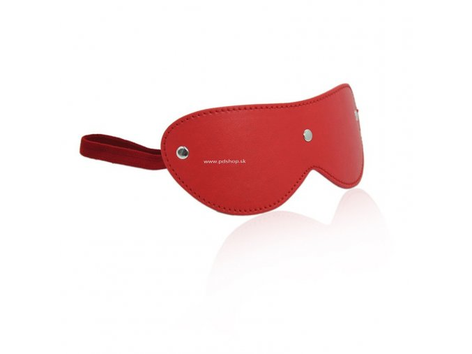 faux leather blindfold red