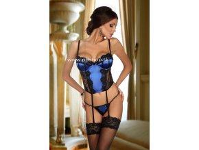 6803 abigail corset black blue