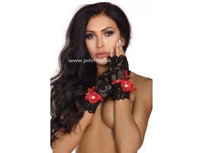 10715 black lace gloves model 14