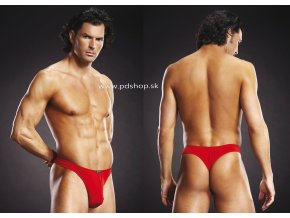 7367 blue line performance microfiber thong red s m