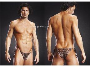 7166 blue line pro mesh side tie bikini leopard s m