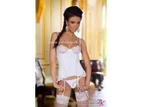 6659 shirley corset white