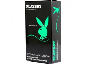 84620 playboy extra pleasure condom 3 pack transparente 54mm 12 pack