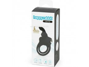 4493 3 happy rabbit rechargeable cock ring black