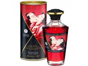 17432 shunga aphrodisiac warming oil blazing cherry 100 ml