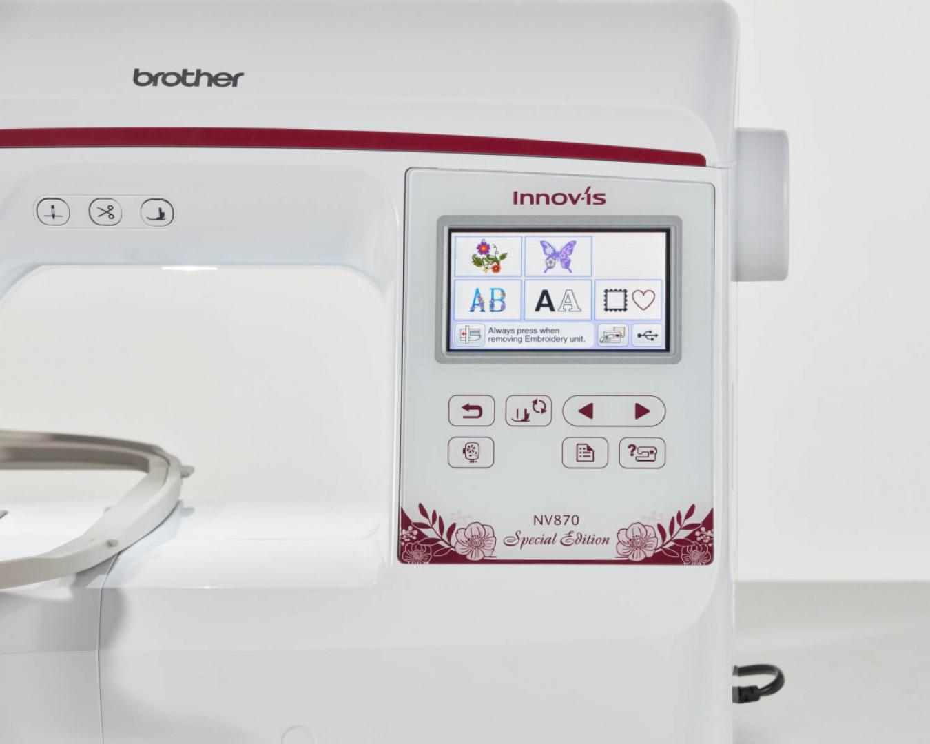 Vyšívací stroj Brother Innov-Is 870SE - nástupca modelu Brother Innov-Is 800E