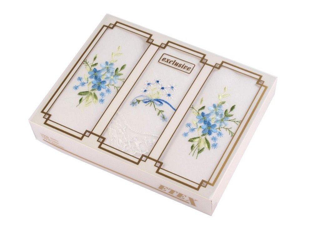 Dámska vreckovka vyšívaná / darčeková kazeta 710528
