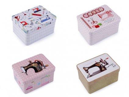 Plechová krabička na šitie - 4 kusy