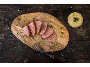 hovězí maso s dipem