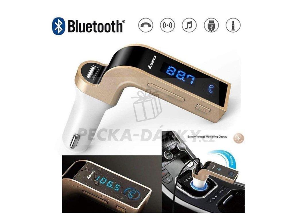 Multifunkční Bluetooth FM Transmitter, na USB a micro SD karty
