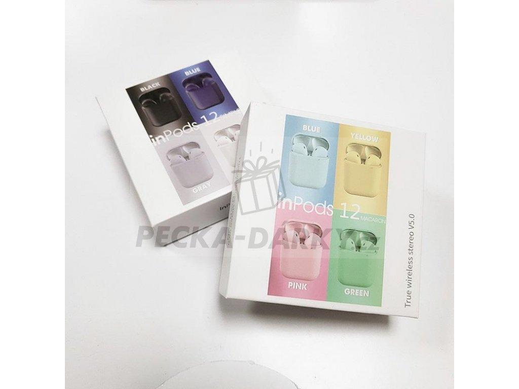 InPods 12 - Luxusní matná barevná sluchátka - 6 barev