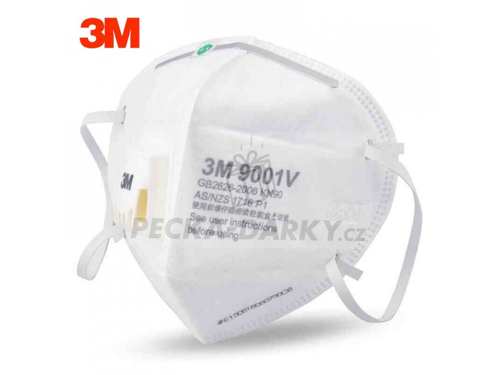 3M 9001V 9002V Dust Mask PM 2 5 Anti fog Particulate Respirator Anti influenza Breathing valve