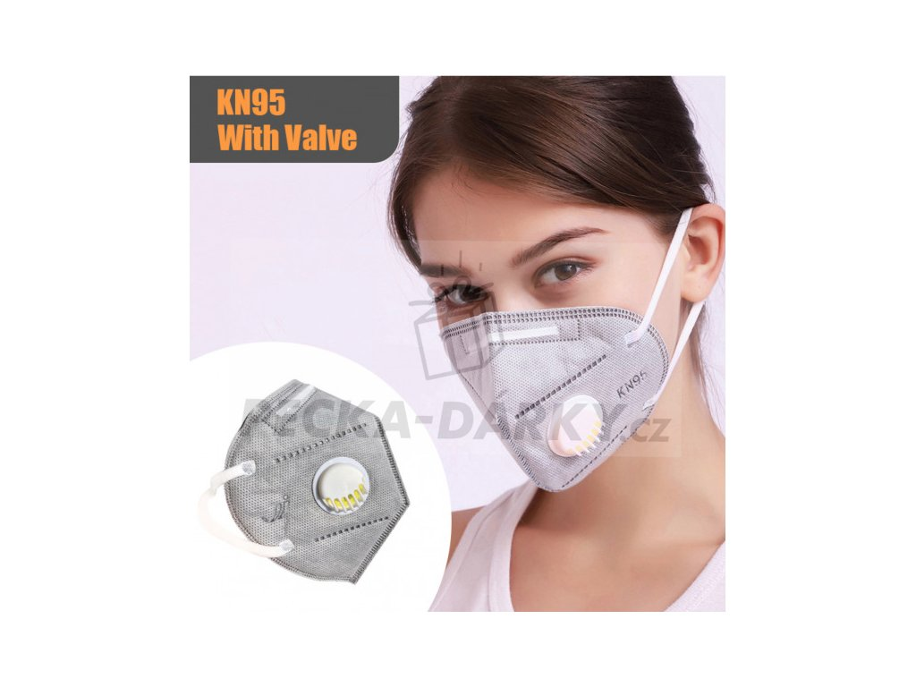 protective face mask ffp2kn95 with breathing valve