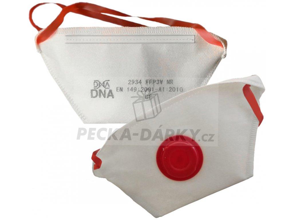 Respirator DNA FFP3 s ventilem do nemocnic