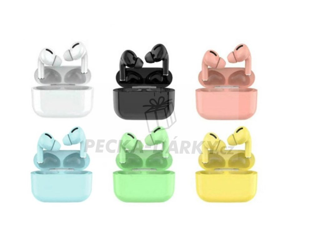 X-Pods PRO bezdrátová barevná sluchátka