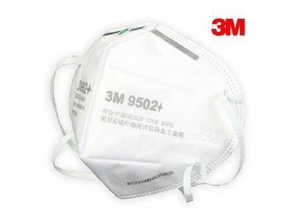 3M 9501+,  9502+ Respirátor KN95 (FFP2)  + Doprava ZDARMA od 500 Kč