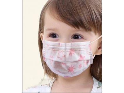 Dětská ochranná rouška s obrázky a gumičkou (5 ks)  + Doprava ZDARMA od 500 Kč