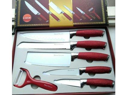 Pecka nože - červeno-bílé  se sekáčkem
