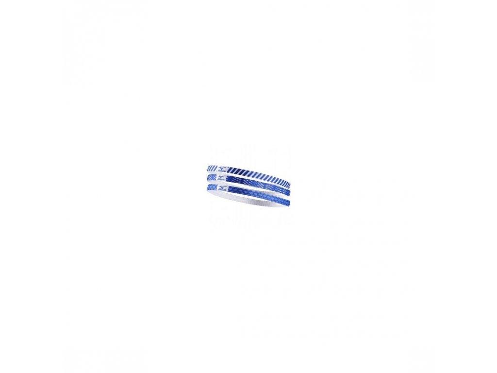 Čelenky Mizuno 3ks modrobiela
