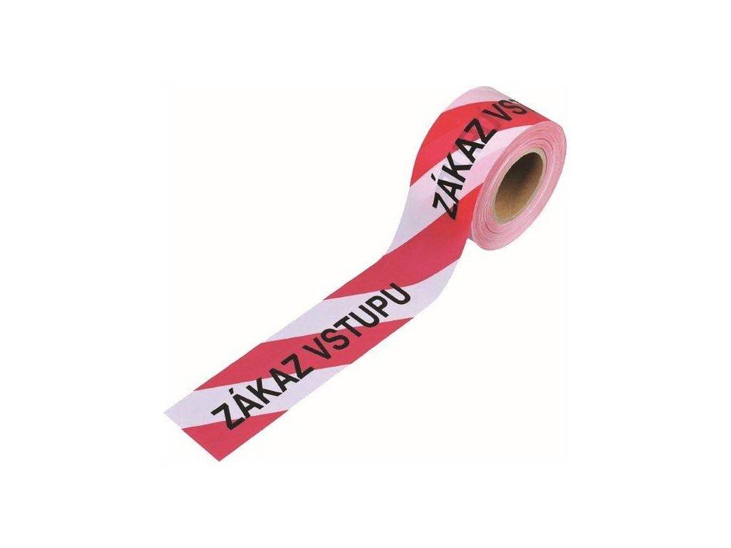 Páska výstražná nalepiacia zákaz vstupu červenobiela 75 mm x 100 mm