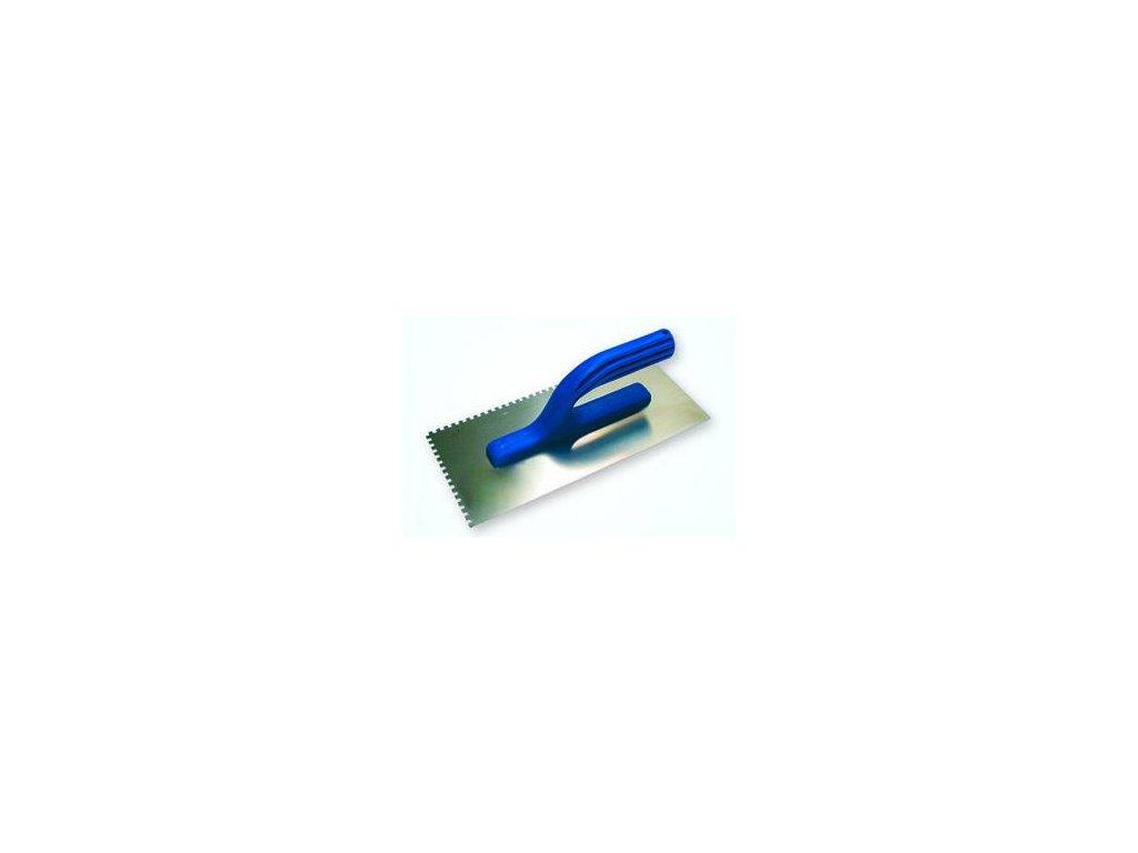 Hladidlo antikorové 270x130mm, plastová rukoväť, zuby 4x4mm