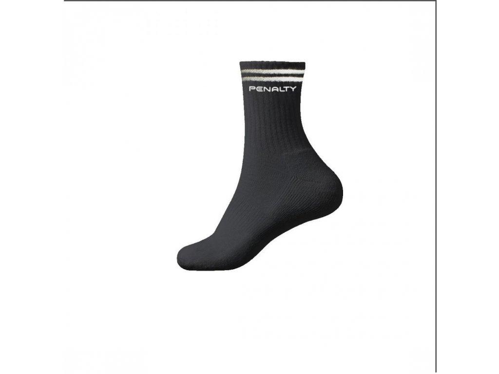 Ponožky LONG STRIPE čierne 3 páry