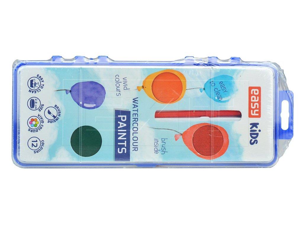 vodove barvy 2 8cm se stetcem easy kids set 12 barev 5905339485106