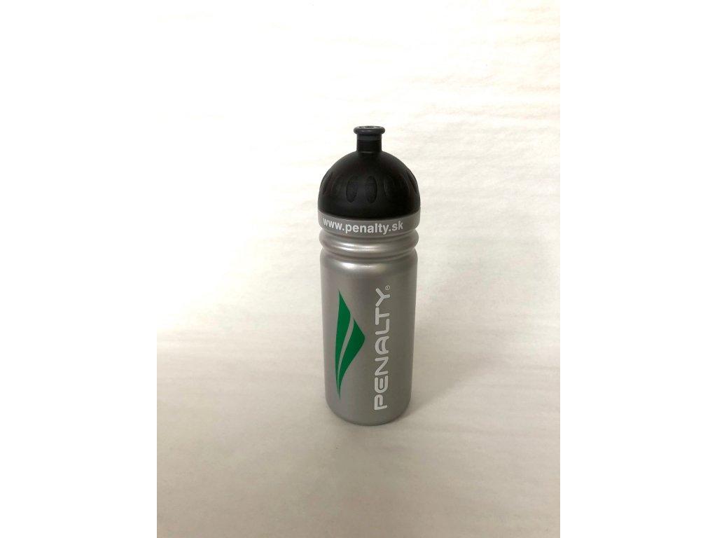 Plastová fľaša PENALTY strieborná