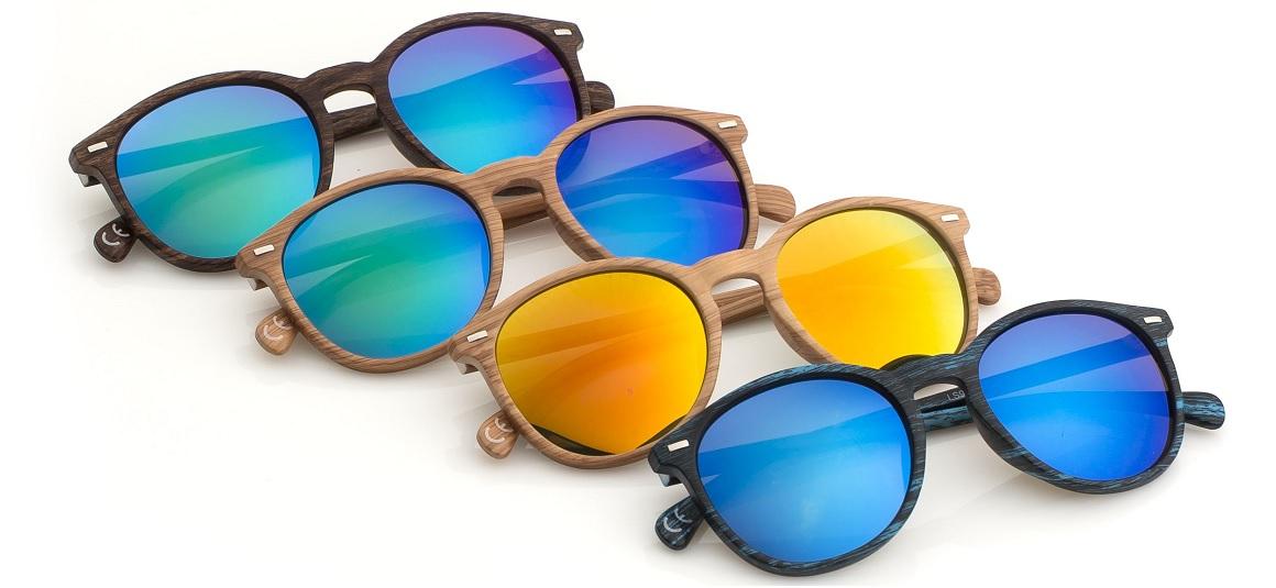 Sluneční brýle dekor dřevo
